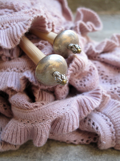 Precious knitting needles