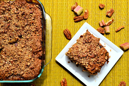Vegan Breakfast Rhubarb Coffee Cake