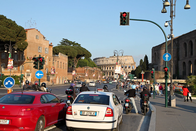 Rome. In Rome streets