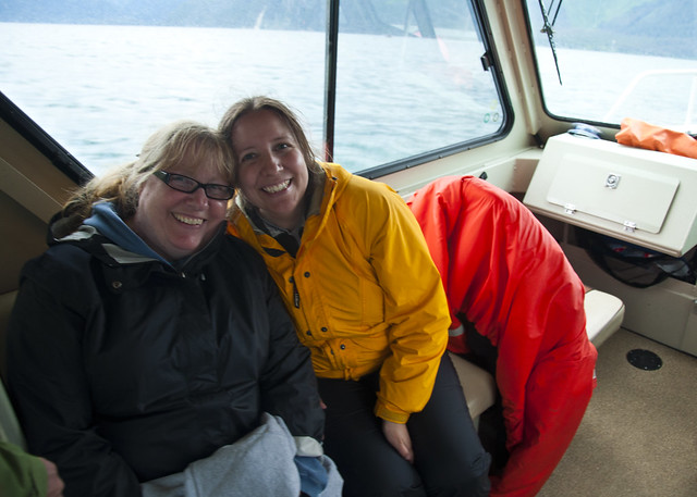 Sandi and Kate on a Boat