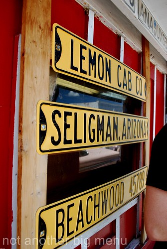Las Vegas, Nevada - Route 66 signs - Lemon Cab Seligman Beachwood