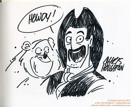 SDCC2011 art commission - Reed Gunther and Sterling the Bear