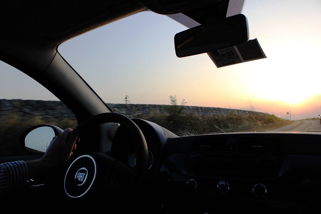 sunset drive through ragusa, sicily
