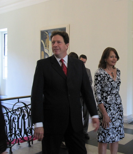 British Ambassador Sir Nigel Sheinwald and his wife Lady Julia Sheinwald