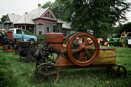 Zoar Ohio Harvest Festival 2011:  Antique tractor display.