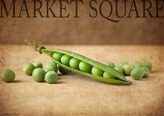 Like Shelling Peas (sherone72) Tags: uk england stilllife food green texture kitchen lumix golden cafe market sweet panasonic textures peas g1 tabletop marketsquare ttt peasinapod raynoxdcr150 warmsun stilllifephotoart