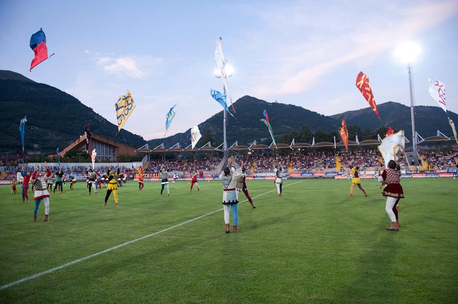 Inaugurazione stadio Pietro Barbetti - Sbandieratori