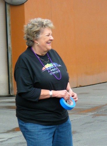 Phyllis Rhodes before the Pride parade, 2010