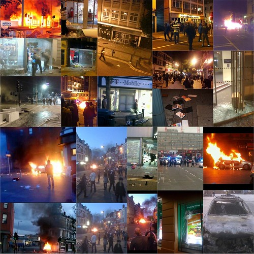 rioting, looting and burning in woolwich