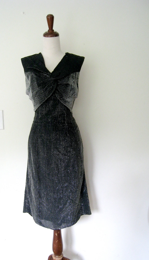 Sparkling Metallic Elinor Gay Cocktail Dress, vintage 1960s