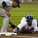 Angel Pagan dives back into first