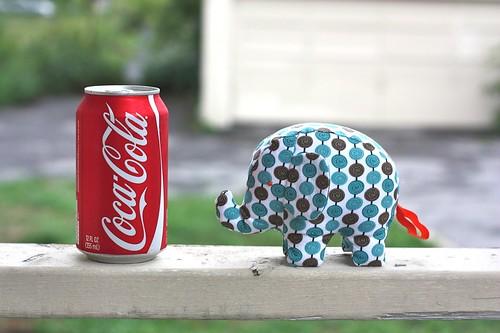 Elephant Softie-blue spots-12