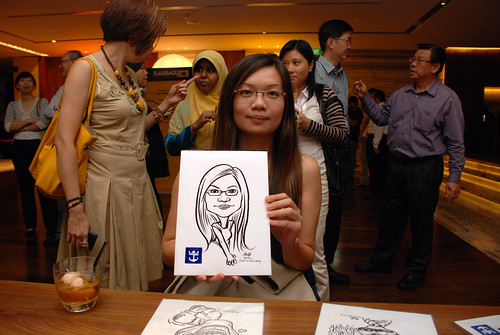 caricature live sketching for Royal Caribbean International Dinner and Dance 2011 - 4