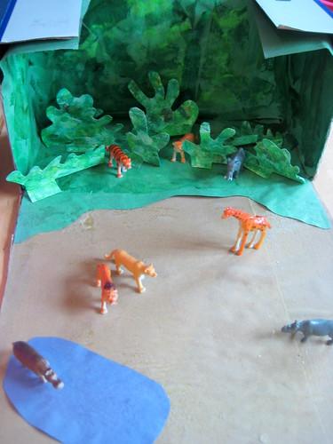 jungle theme preschool scene