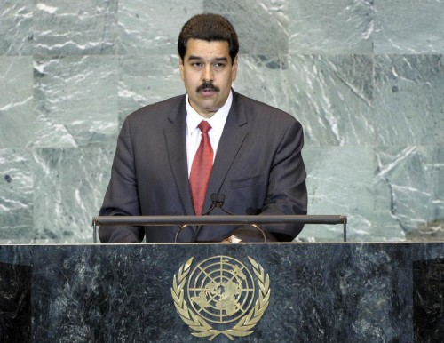 Bolivarian Republic of Venezuela Foreign Minister Nicolas Maduro Moros speaking at the United Nations General Assembly. The Latin American state condemned the US-NATO war against the North African nation of Libya. by Pan-African News Wire File Photos