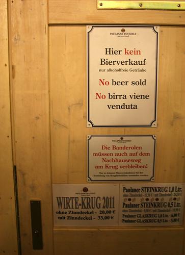 Hier kein Bierverkauf