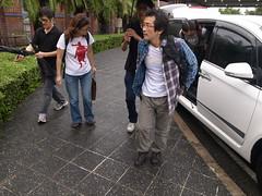導演魏德聖搭乘飛機至台東參與記者會