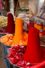 Spice mounts (Sandro_Lacarbona) Tags: voyage trip travel red orange india color rouge market spice mount sell pushkar backpacker mont march couleur sandro rajasthan inde vendre routard pice tourdumonde tetedechatcom lacarbona