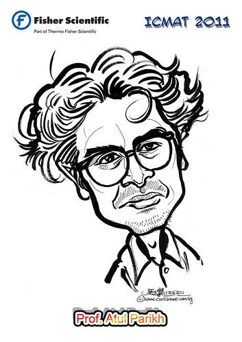 Caricature for Fisher Scientific - Prof. Atul Parikh