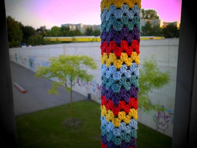Detail of my rainbow yarnbomb