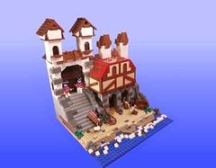 Port Royal's Mouse-Hole (Sabarrus) Tags: port lego pirates royal caribbean tutor buildingwall classicpirates