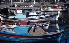 Peloponnes / Fisher Boats (1973) (Proteus250245) Tags: delphi hellas mani greece olympia thessaloniki sparta griechenland athos meteora monemvasia mistra bassai thasos peloponnes