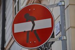 Asportazione di divieto (ALMartino Fiero del mio sognare) Tags: street italy art torino strada italia arte turin divieto vietato vietare almartino rimosso