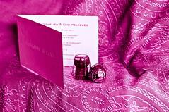 Invitation (Talliebally http://instagram.com/talliebally) Tags: pink invitation weddingcard champagnecorks lightroom3 originalcurtainsaregreen talithahoppe