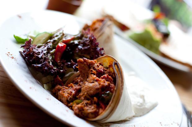Chicken and Chorizo Burrito