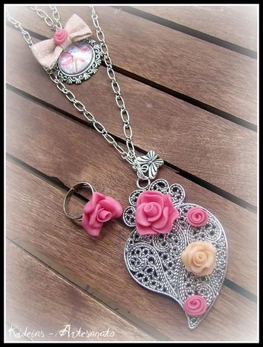 """""""Lovely heart"""" by kideias - Artesanato"""