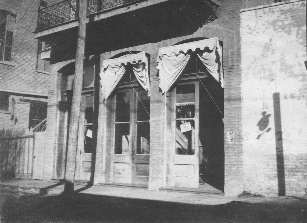 old awning, 313 Convent St., Laredo, TX, abt. 1910