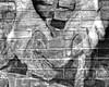 """Extraschicht 2011 / Lichtinstallation """"arbeitende Hände"""" / Zeche Zollern (GelsenBuer) Tags: bw art wall germany deutschland hands hand kunst picture bn nrw sw bild dortmund zeche coalmine mauer hände lightinstallation extraschicht zollern lichtinstallation zechezollern extraschicht2011"""