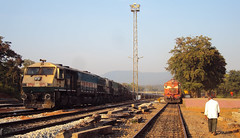 3 EMDs and 2 ALCOs (Dheeraj Clickr Rao) Tags: train loco alco indianrailways emd wdg3a wdg4 wdm3