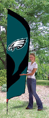 Philadelphia Eagles Tall Feather Flag