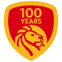NYPl 100 Years Large Red & Yellow Logo