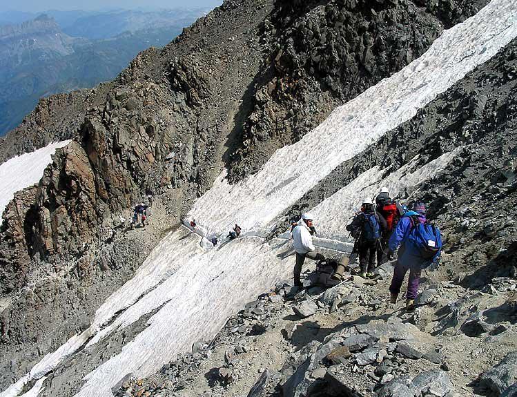 course autour du Mont-Blanc fin juin début juillet 2003 météopassion