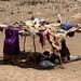 Cabanas de tecido para se proteger do calor