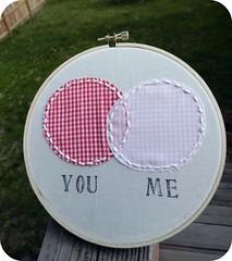 You & Me Venn Diagram Embroidery