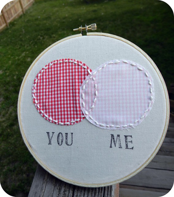 You & Me Venn Diagram Embroidery