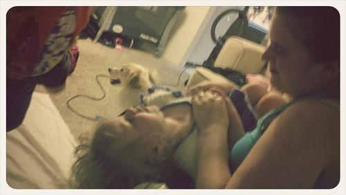 Kali tickling Ora!!!