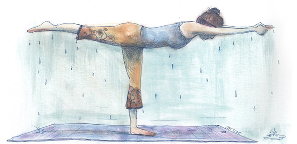 yoga crazy bikram illustration