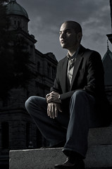 Frank (Ryan Wyllie) Tags: light musician music contrast dark concrete model nikon bc ryan victoria headshot business pianist strobe wyllie strobist su800 sb900 d7000
