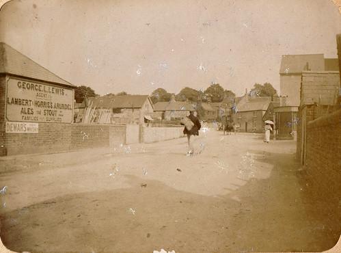 Storrington, West Sussex. 1890s. High Street looking east towards Manley's Hill.