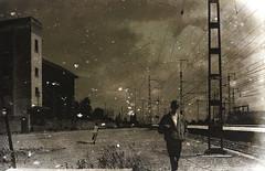 pousser les bords du monde (laboratoire de l'hydre) Tags: silhouette train gare decay gaz rail maroc stalker bela rue brouillard usine tarr chemine pologne abandonn tarkovski poussire angelopoulos