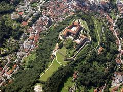 Plessburg in Kulmbach (pilot_micha) Tags: city castle germany bayern deutschland bavaria aerialview stadt fortress burg luftbild airview festung oberfranken plassenburg kulmbach airpicture badneustadt