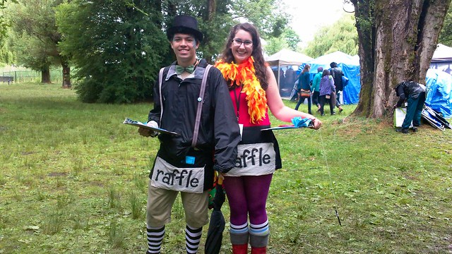 Vancouver Folk Fest Raffle sellers