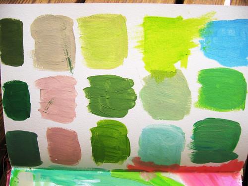 Green green green blue