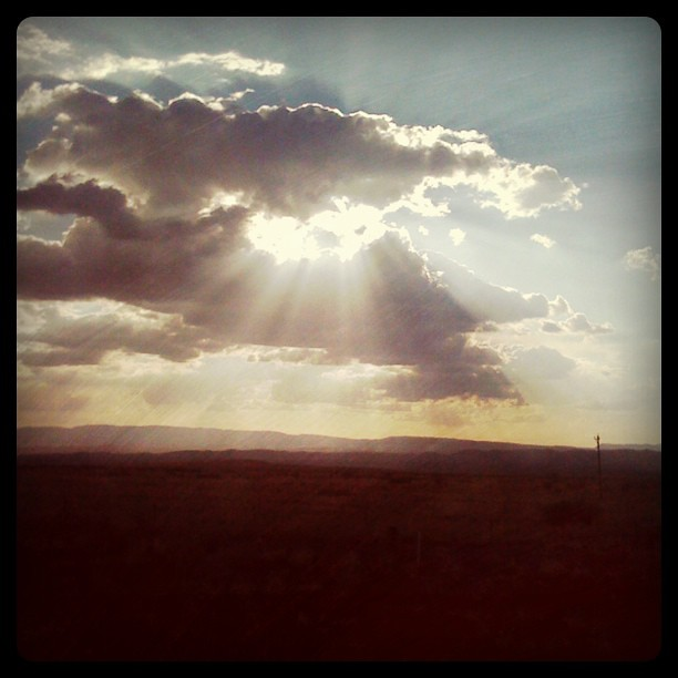 Sun rays out in the middle of nowhere NM