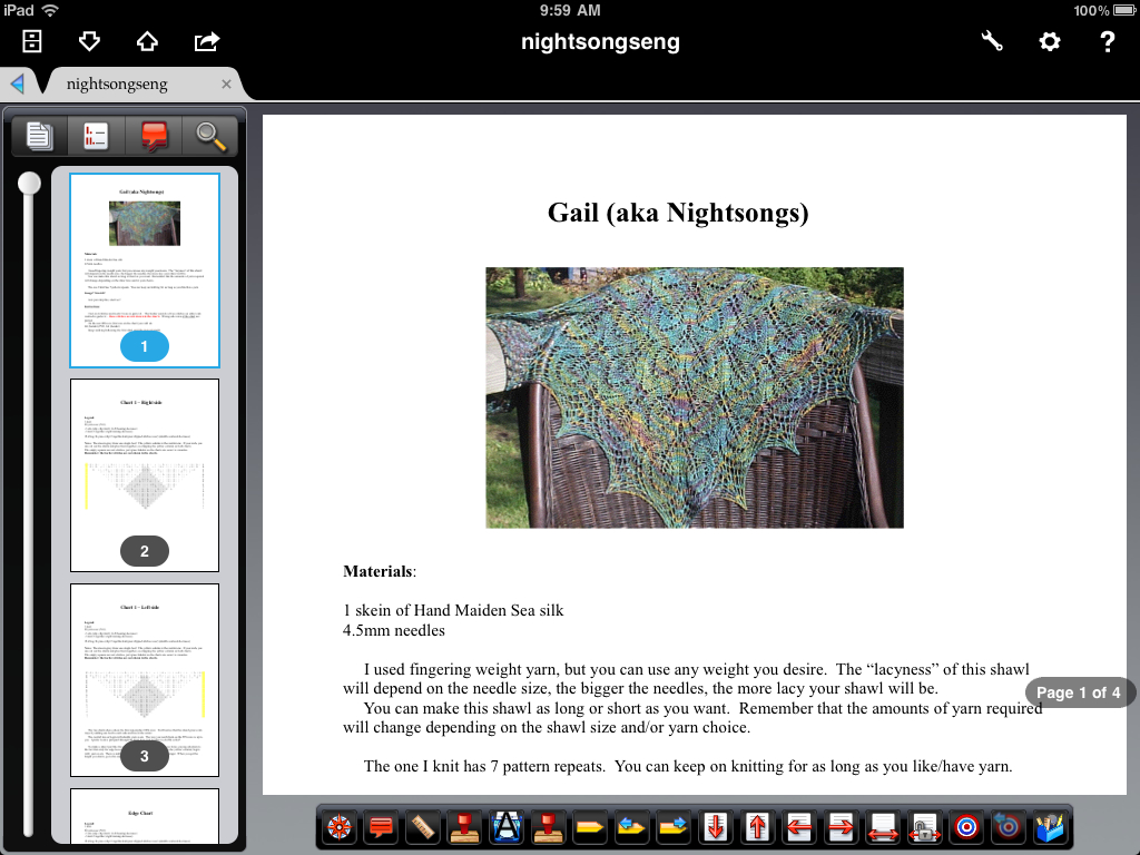 Fleegle's Blog: Knitting with the iPad