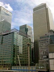 docklands from DLR (garethbee) Tags: london canarywharf